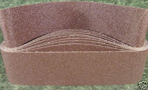 "10pc 4 /"" X 36 /"" 80 GRIT SANDING BELT butt joint sand paper USA Made Cloth back"