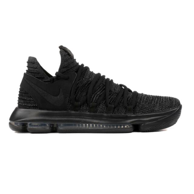 the best attitude e7b99 9348c Mens NIKE ZOOM KD10 Black Basketball Trainers 897815 004