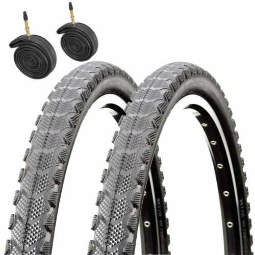 1 Pair Raleigh CST T1811 700 x 35c Trek Hybrid Bike Tyres /& Presta Tubes x2