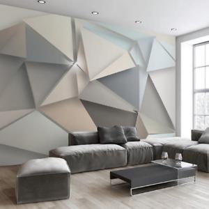 3d Wall Mural Modern Living Room Background Art Geometric Covering Wallpaper Ebay