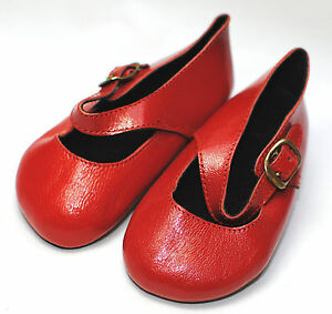 boneka ZAPATOS DE MUÑECA ROJO Mary Jane Zapatos 100x / Rojo MARY JANE SHOES 100X