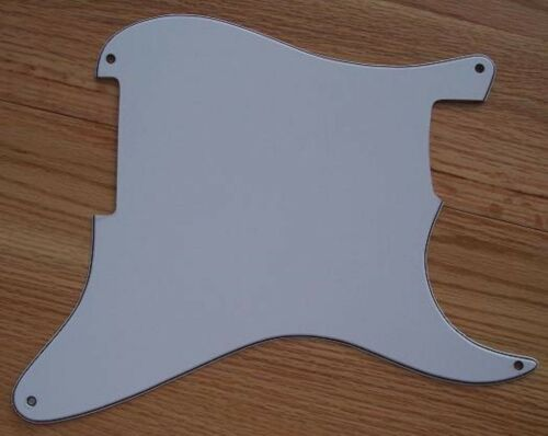 3-Ply WHITE Blank Pickguard 4 FENDER Stratocaster STRAT