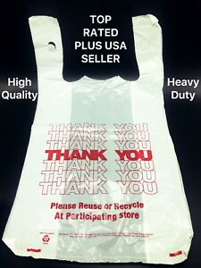 Details About Thank You T Shirt Bags 11 5 X 6 21 White Plastic Ping 1 400 Ct