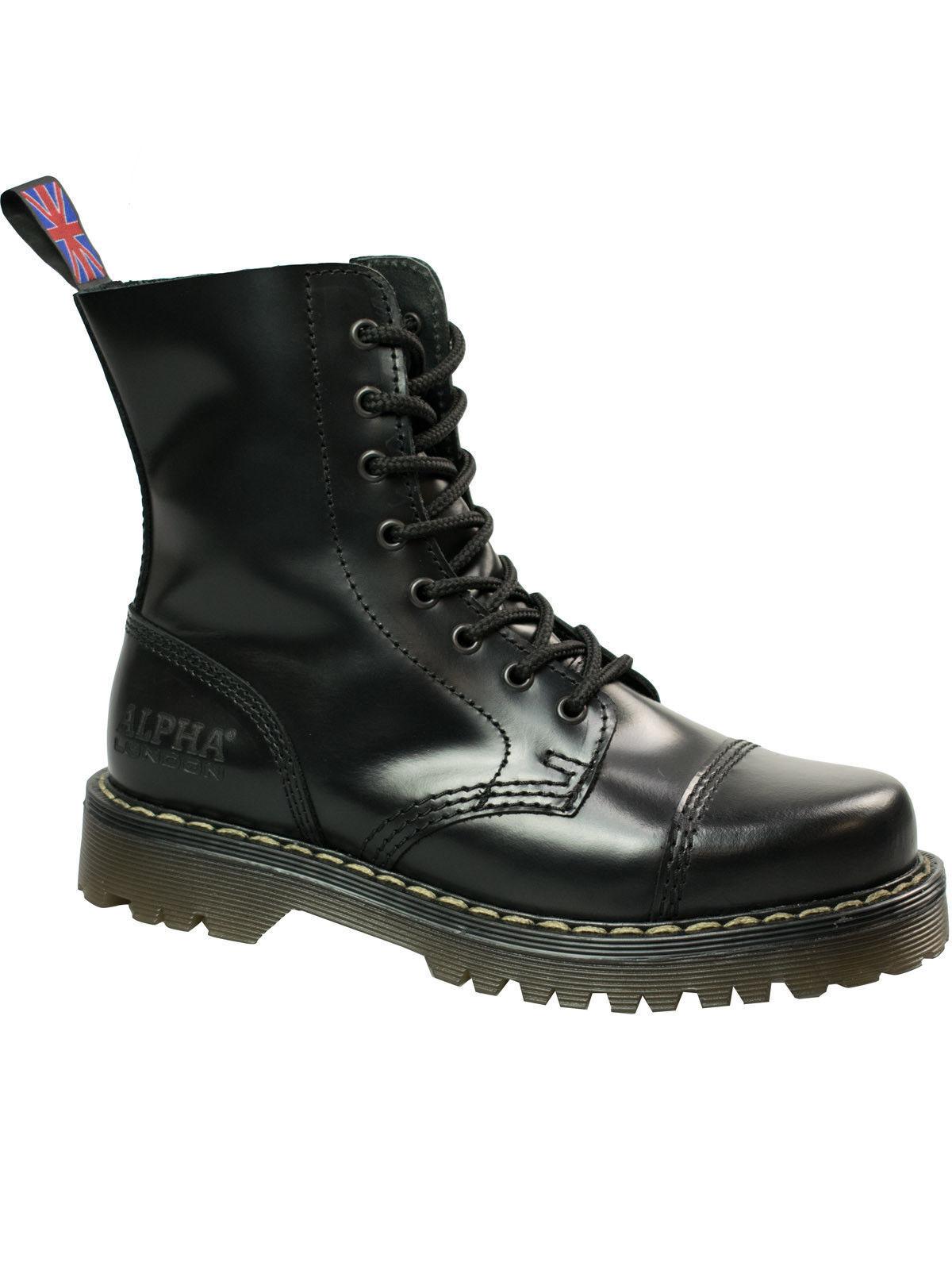 Alpha London 8-loch Boot 4160 Ohne Stahlkappe Beige Beige Stahlkappe Sohle / Beige Naht #5053 f00430