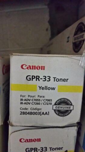 Canon GPR-33 Yellow Toner Cartridge OEM C7055