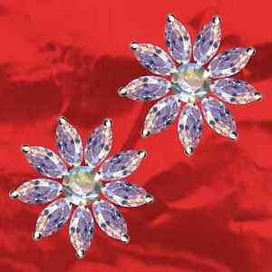 Stern-Blume-Bluete-Ohrringe-Exklusiv-Echt-925-Sterling-Silber-Zirkonia-Strass