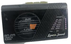 Vintage Lenoxx Sound AM/FM Stereo Cassette Player Model 900 Black Tested Works