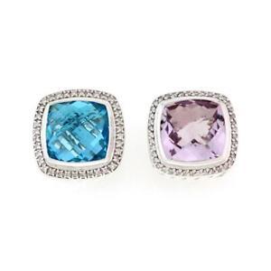 David-Yurman-Albion-Diamond-Amethyst-Topaz-Sterling-Silver-Clip-On-Earrings