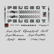 Peugeot PX10, PY10 Bicycle Stickers - Decals - Transfers - n.0362