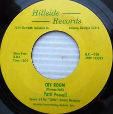 PATTI POWELL 45 cry room End of the line OBSCURE 70's COUNTRY on HILLSIDE  jr70