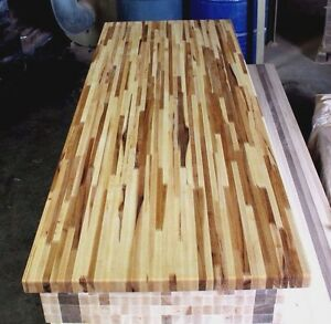 Forever Joint Hickory Butcher Block Top 1-1/2x26x96 Kitchen Cutting Board