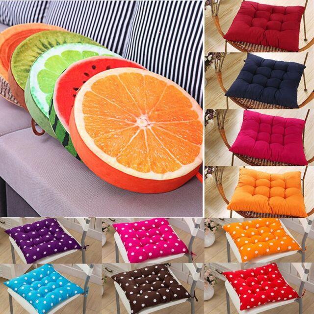 Tie On Soft Chair Cushion Seat Pads Pillow Garden Patio Playroom Home Sofa Decor