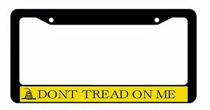 Gadsden Flag Don/'t Tread on Me License Plate Frame