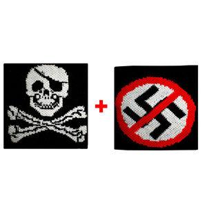 carte da gioco in spugna gruppi rock e bandiere Coppia polsini cuba