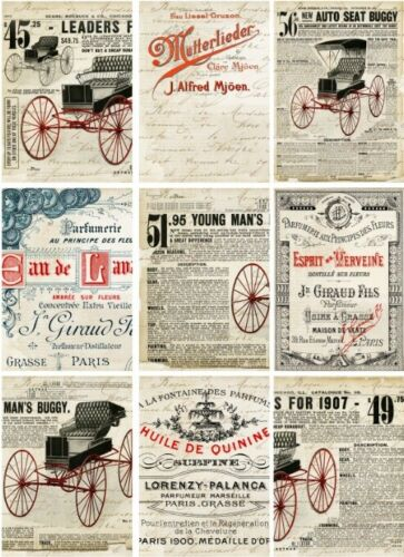 Männer-12461 Decoupage-Bastelpapier-Softpapier-Vintage-Shabby-Nostalgie-Motiv f