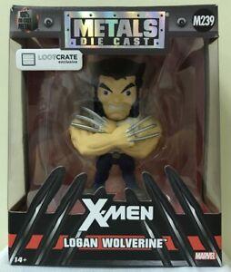 BRAND-NEW-Logan-Wolverine-X-Men-Metals-Die-Cast-Figure-Loot-Crate-Exclusive
