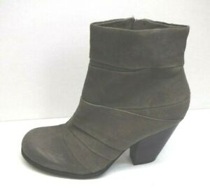 Vince-Camuto-Size-10-Gray-Distressed-Leather-Ankle-Boots-New-Womens-Shoes