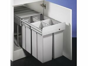 wesco einbau abfallsammler 4x 10 liter bio quartett 40dt quarta 1 m lleimer ebay. Black Bedroom Furniture Sets. Home Design Ideas
