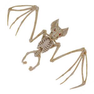 Halloween-Bat-Skeleton-Animal-Bone-Posable-Party-Props-Haunted-House-Decor