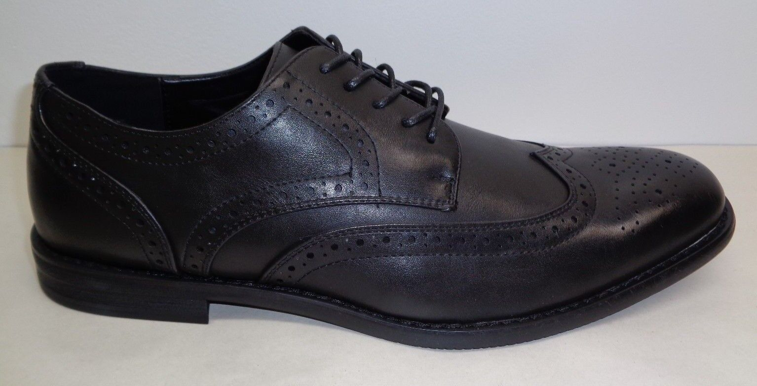 Kenneth Cole Unlisted Size 11 DESIGN 30121 Black Wingtip Oxfords New Mens Shoes