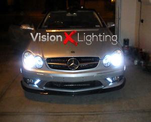 Mercedes CLK A209 H7 H7 501 55w Super White Xenon High//Low//Side Headlight Bulbs