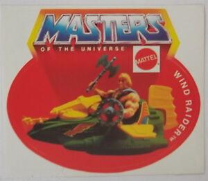 Sammler-Aufkleber Wind Raider + He-Man Motu Masters of the Universe 80er