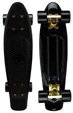 """Mayhem Cruiser Board 22""""  Skateboard Black Gold NEW"""