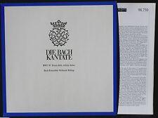 Bach Cantate 30 Rilling Cuccaro Mechtild Georg Baldin Huttenlocher LP M, CV NM