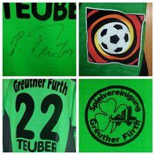 B358 TRIKOT Matchworn RONNY TEUBER GREUTHER FÜRTH Bundesliga DDR DFB BVB DFV RAR