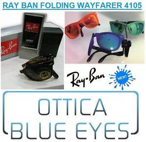 Occhiali-da-Sole-RAYBAN-Folding-WAYFARER-4105-Ray-Ban-PIEGHEVOLE-Sunglasses-Gafa