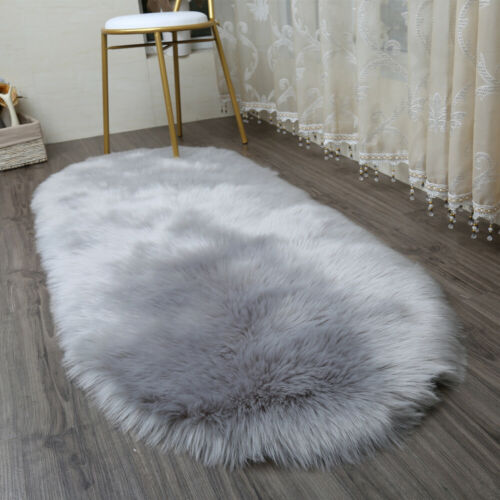 Faux Sheepskin Rug Modern Throw chair cover Living Room 40x60cm Floor Mat PICK