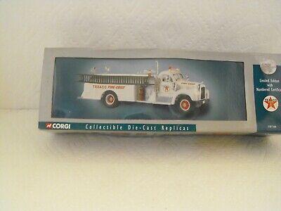 TEXACO CORGI MACK B SERIES PUMPER Fire Truck 2001 Die Cast 1:50 scale NEW MIB G