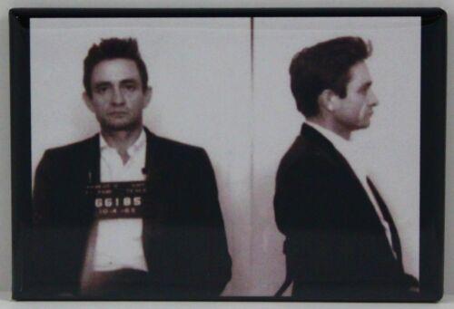 "Locker Magnet. Johnny Cash Mugshot 2/"" X 3/"" Fridge"