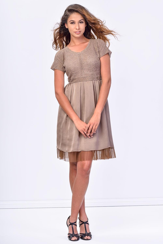 NWT  ITALIAN DESIGNER SISTE'S KNIT DRESS Lace Hem Größe  S M L 8 10 12 14