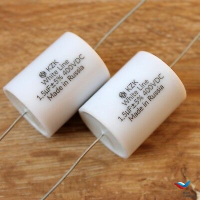 47uF 250V Matched Pair Russian Polypropylene Film HiFi Audio Quality Capacitors
