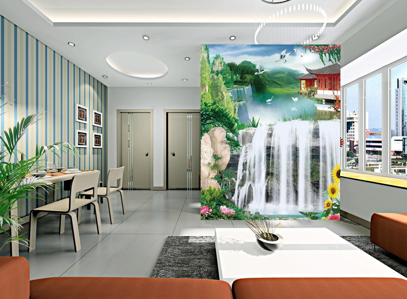 3D Blattwasserfall 504 Tapete Tapeten Mauer Foto Familie Tapete Wandgemälde DE