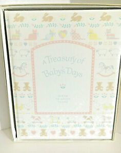 Vintage Baby Album Gibson A Treasury of Baby's Days Baby Shower Gift NIB