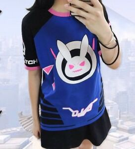 Overwatch-DVa-T-shirt-Cosplay-Unisex-High-Quality-UK-Seller-Fast-delivery