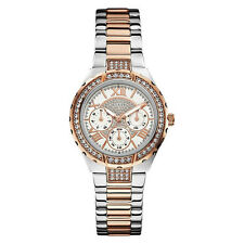 NEW GUESS WATCH for Women * Rose Gold Two Tone Stainless Steel Bracelet U0111L4