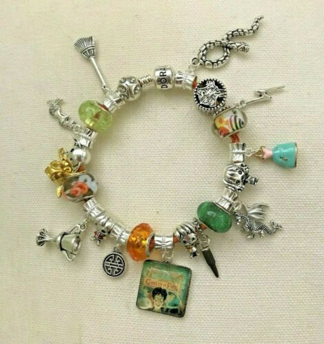 Details about  /HARRY POTTER #2 Book Covers~GOBLET OF FIRE /& ORDER OF THE PHOENIX~Euro Bracelets
