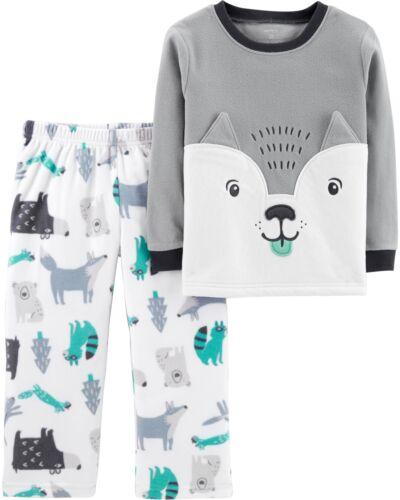 Carter/'s Boy/'s Plush Fleece Wolf and Woodland Animals Pajama Set