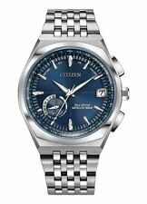 NEW Citizen Blue Eco-Drive Satellite Wave Stainless Steel Watch CC3020-57L