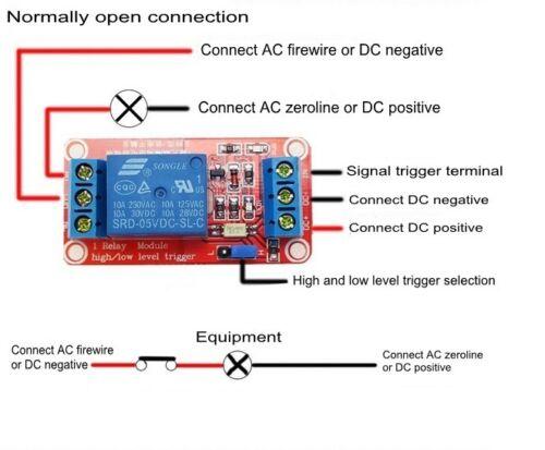 DC 5 V 9 V 12 V 24 V optocouple isolement H//L LEVEL Trigger 1-Channel Relay Module