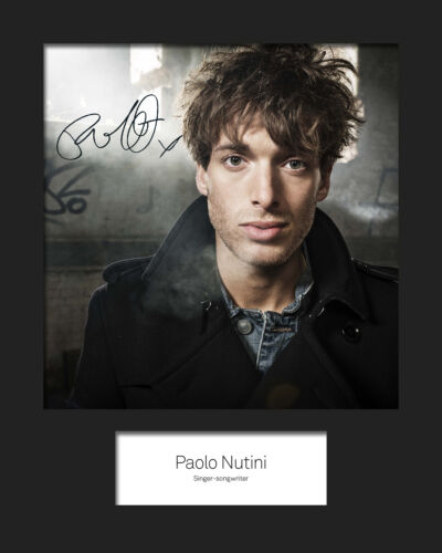 PAOLO NUTINI #3 10x8 SIGNED Mounted Photo Print FREE DELIVERY