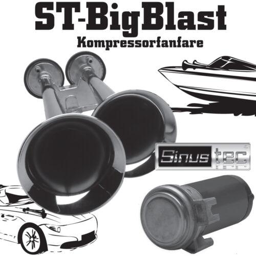 Sinustec 13958 BigBlast Fanfare zwei Klang Doppelfanfare Kfz Boot Hupe Horn