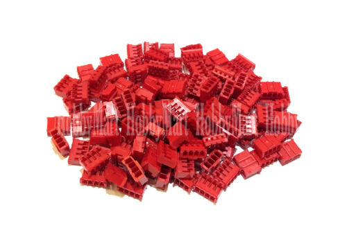 PH 2.0mm JST 4-Pin Female 3S RC LIPO Battery Connector Socket RED Color DIY x100