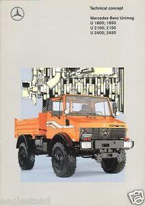 Truck Brochure - Mercedes Benz - Unimog - U 1800 2100 2400 ...