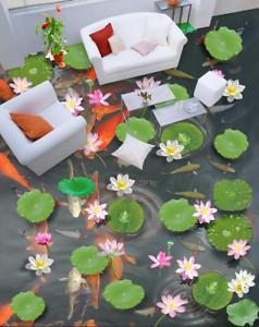 3D Summer Lotus Pond 931 Floor WallPaper Murals Wall Print Decal AJ WALLPAPER US