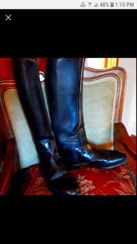 Konig Black Equestrian Boots, Size 10