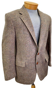 Austin Reed Regent Street De Tweed Abrigo Sport 38s Irlanda Tejida A Mano Firmado Ebay